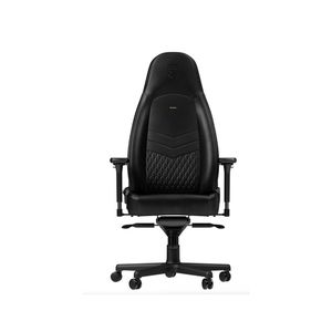 noblechairs ICON TOP GRAIN LEATHER GAMING CHAIR - BLACK *เก้าอี้เกมมิ่ง