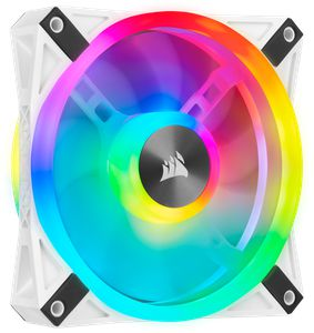 CORSAIR ICUE QL120 RGB 120MM PWM WHITE SINGLE PACK *พัดลม