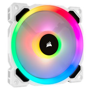 CORSAIR LL120 RGB 120MM DUAL LIGHT LOOP WHITE RGB PWM SINGLE PACK *พัดลม