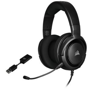 CORSAIR HS45 7.1 SURROUND GAMING HEADSET — CARBON *หูฟังเกมมิ่ง