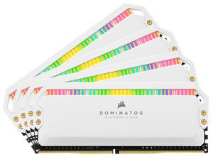 CORSAIR DOMINATOR® PLATINUM RGB 32GB (4X8GB) 3200MHZ C16 AMD RYZEN WHITE *แรม