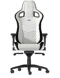 NOBLECHAIRS EPIC PU LEATHER GAMING CHAIR - WHITE I BLACK *เก้าอี้เกมมิ่ง
