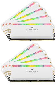 CORSAIR DOMINATOR® PLATINUM RGB 128GB (8X16GB) 3200MHZ C16 WHITE *แรม