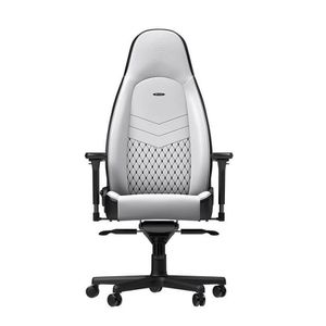 noblechairs ICON PU LEATHER GAMING CHAIR - WHITE I BLACK *เก้าอี้เกมมิ่ง