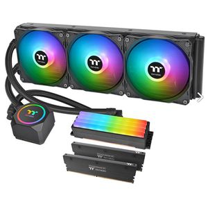 THERMALTAKE FLOE RC360 ARGB (120X3) & TOUGHRAM RC 16GB 3600 (2X8GB) C18 CPU & MEMORY AIO *ชุดน้ำปิด
