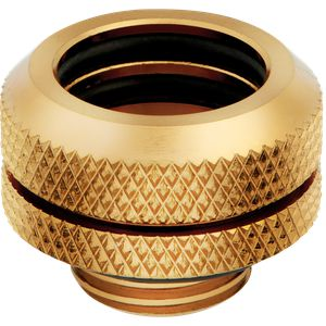 CORSAIR HYDRO X SERIES XF HARDLINE 14MM OD FITTING FOUR PACK — GOLD *ฟิตติ้ง