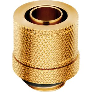"CORSAIR HYDRO X SERIES XF COMPRESSION 10/13MM (3/8"" / 1/2"") ID/OD FITTING FOUR PACK — GOLD *ฟิตติ้ง"