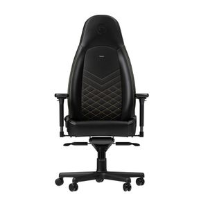 noblechairs ICON PU LEATHER GAMING CHAIR - BLACK I GOLD *เก้าอี้เกมมิ่ง