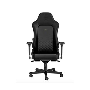 NOBLECHAIRS HERO TOP GRAIN LEATHER GAMING CHAIR - BLACK *เก้าอี้เกมมิ่ง