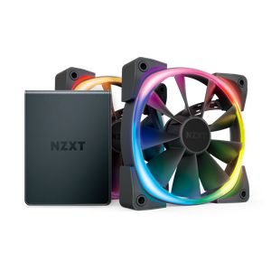 NZXT AER RGB 2 120MM TWIN STARTER KIT (2 FANS PACK WITH CONTROLLER) *พัดลม