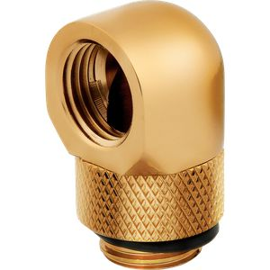 CORSAIR HYDRO X SERIES 90° ROTARY ADAPTER TWIN PACK — GOLD *ฟิตติ้ง
