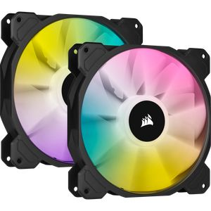 CORSAIR ICUE SP140 RGB ELITE PERFORMANCE 140MM PWM DUAL PACK WITH LIGHTING NODE CORE *พัดลม