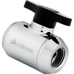 CORSAIR HYDRO X SERIES XF BALL VALVE — CHROME *ฟิตติ้ง