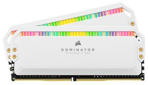 CORSAIR DOMINATOR® PLATINUM RGB 16GB (2X8GB) 3200MHZ C16 AMD RYZEN WHITE *แรม