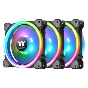 THERMALTAKE RIING TRIO 14 RGB 140MM RADIATOR FAN TT PREMIUM EDITION 3 PACK *พัดลม