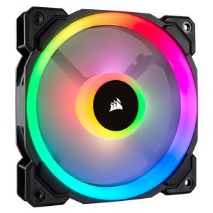 CORSAIR LL120 RGB 120MM DUAL LIGHT LOOP RGB PWM SINGLE PACK *พัดลม