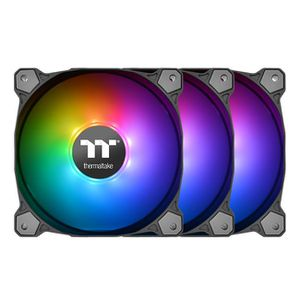 THERMALTAKE PURE PLUS 12 RGB 120MM RADIATOR FAN TT PREMIUM EDITION 3 PACK *พัดลม