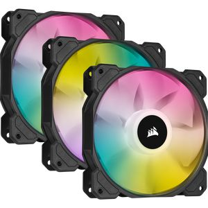CORSAIR ICUE SP120 RGB ELITE PERFORMANCE 120MM PWM TRIPLE PACK WITH LIGHTING NODE CORE *พัดลม