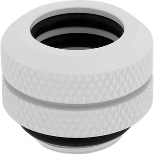 CORSAIR HYDRO X SERIES XF HARDLINE 12MM OD FITTING FOUR PACK — WHITE *ฟิตติ้ง