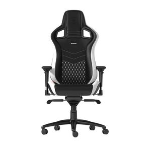 noblechairs EPIC REAL LEATHER GAMING CHAIR - BLACK I WHITE I RED *เก้าอี้เกมมิ่ง