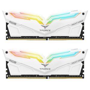 TEAM NIGHT HAWK 16GB (2X8GB) 3200 RGB-WHITE *แรม