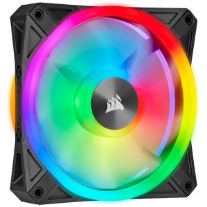 CORSAIR ICUE QL120 RGB 120MM PWM BLACK SINGLE PACK *พัดลม