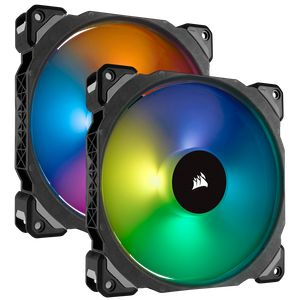 CORSAIR ML140 PRO RGB LED 140MM PWM PREMIUM MAGNETIC LEVITATION FAN (2 FANS PACK WITH LIGHTING NODE PRO) *พัดลม