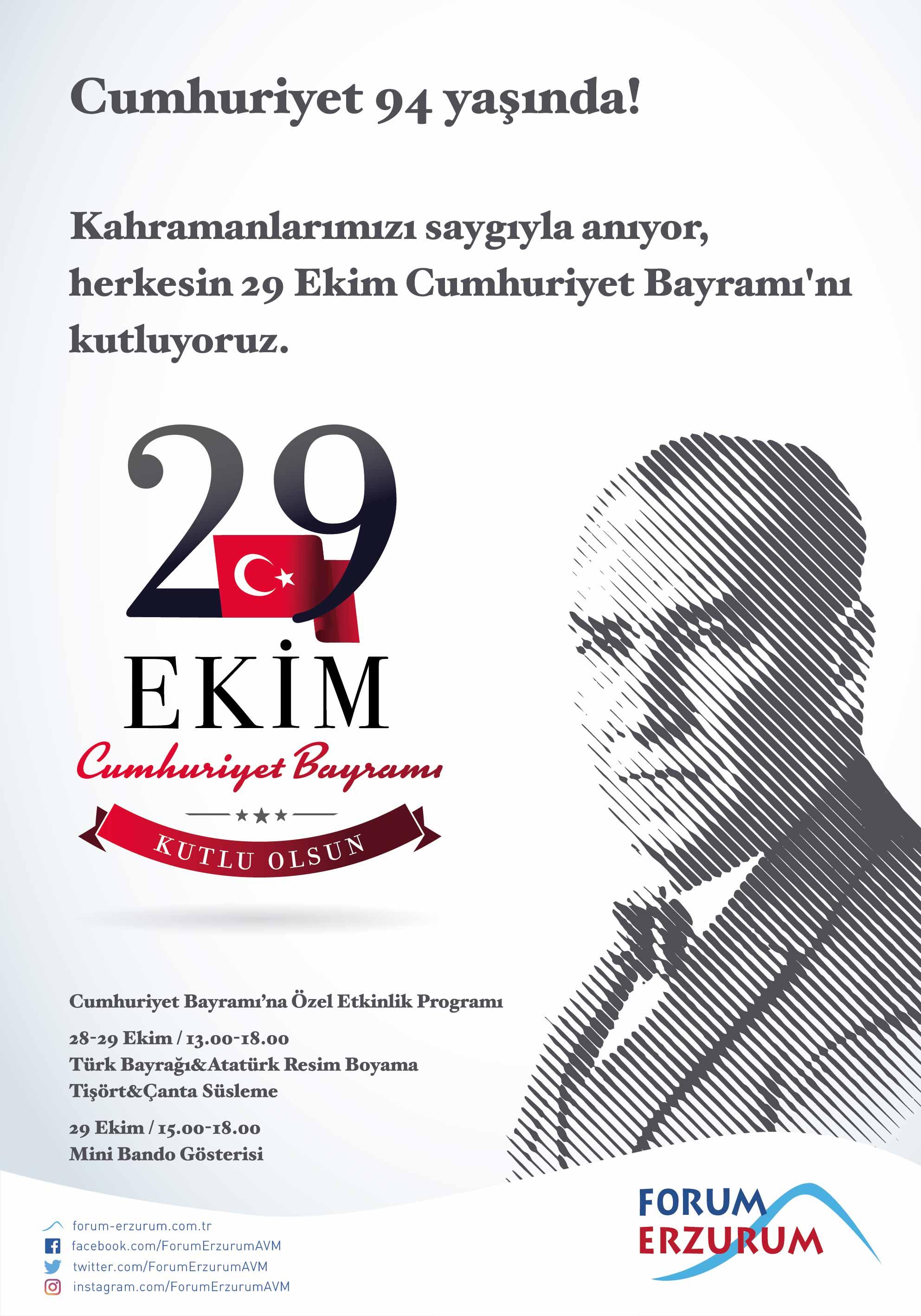 Tüm çocuklar 29 Ekimde Forum Erzuruma Davetli