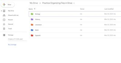 Use Drive To Organize Files Applied Digital Skills