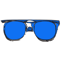 Blue Sunglasses.svg