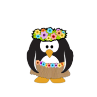 Hula Penguin.svg