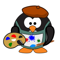 Painter Penguin.svg