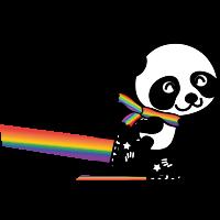 Rainbow Panda.svg