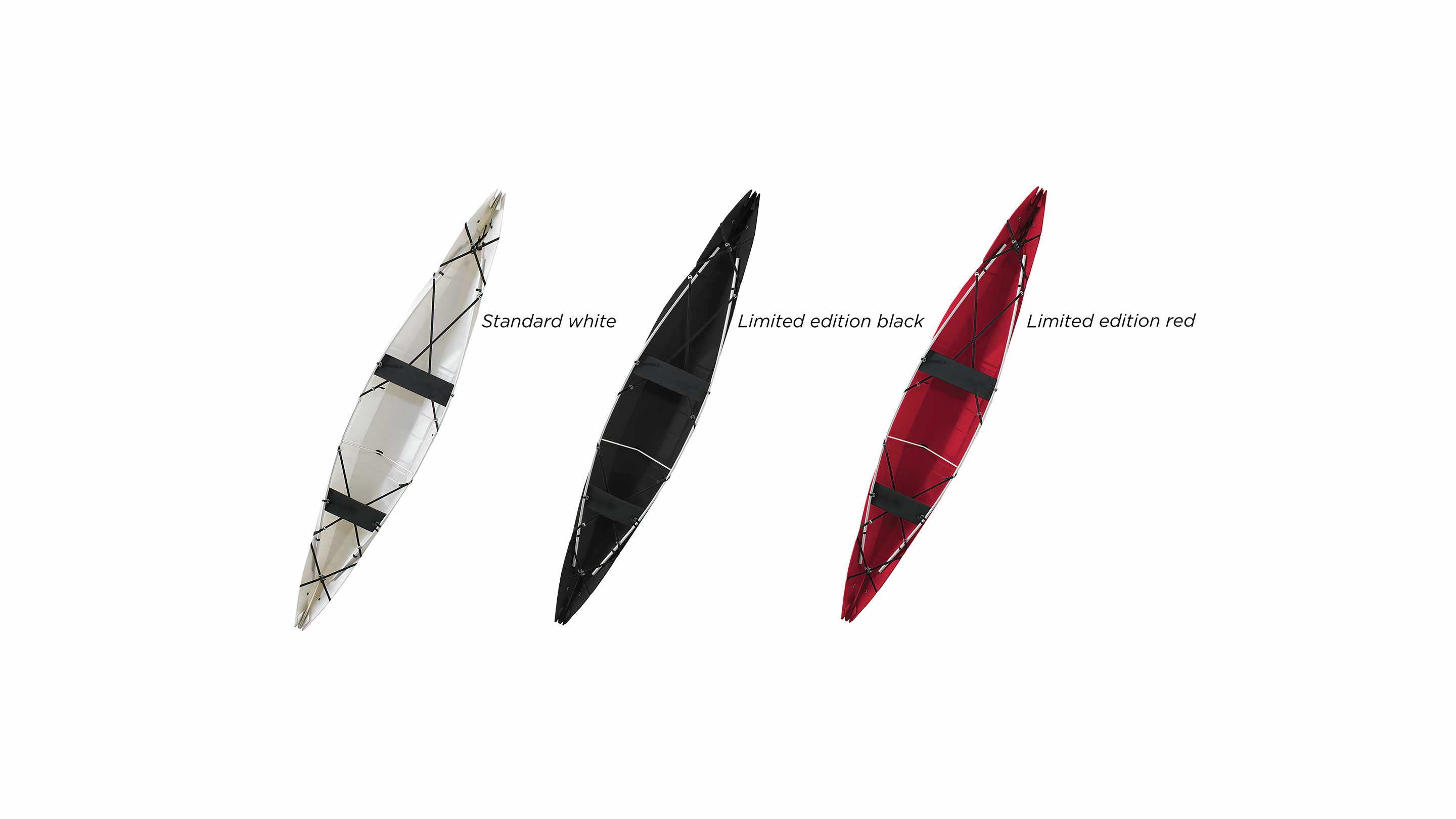onak foldable canoe in 3 colors
