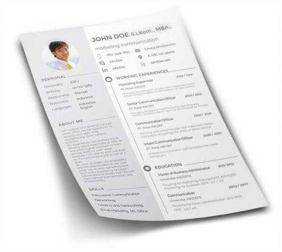 Free Download Curriculum Vitae (CV) atau Resume yang Memikat para HRD 2 - Finansialku