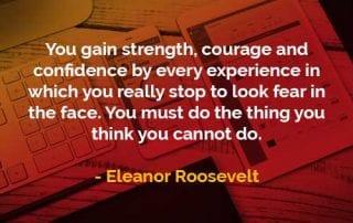 Kata-kata Bijak Eleanor Roosevelt Melakukan Hal yang Tidak Bisa Anda Lakukan - Finansialku