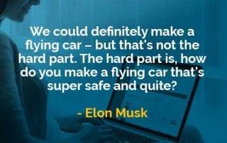 Kata-kata Bijak Elon Musk Membuat Mobil Terbang - Finansialku