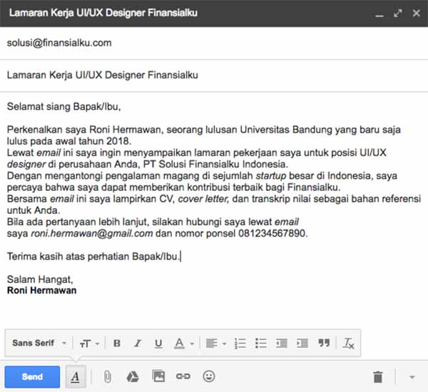 Begini Etika Menulis Email Lamaran Kerja Agar Dibalas Hrd