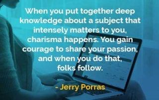 Kata-kata Bijak Jerry Porras Mengumpulkan Pengetahuan - Finansialku