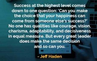 Kata-kata Bijak Jeff Haden Sukses Di Level Tertinggi - Finansialku
