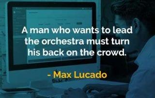 Kata-kata Bijak Max Lucado Memunggungi Kerumunan - Finansialku