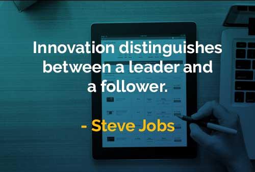 Kata-kata Bijak Steve Jobs Inovasi Membedakan Antara Pemimpin dan Pengikut - Finansialku