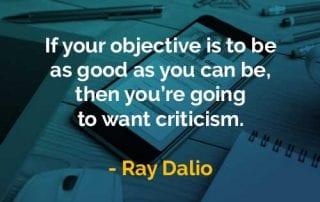 Kata-kata Bijak Ray Dalio Menginginkan Kritik - Finansialku