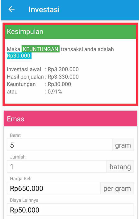 Keuntungan Investasi Logam Berharga 06 Aplikasi 3 - Finansialku