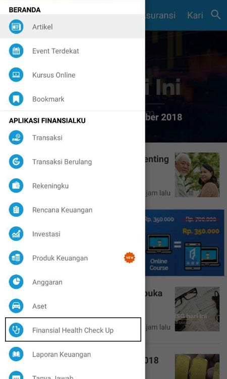Financial Health Check Up Aplikasi Finansialku