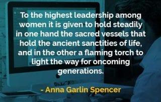 Kata-kata Bijak Anna Garlin Spencer Pimpinan Tertinggi Di Antara Para Wanita - Finansialku