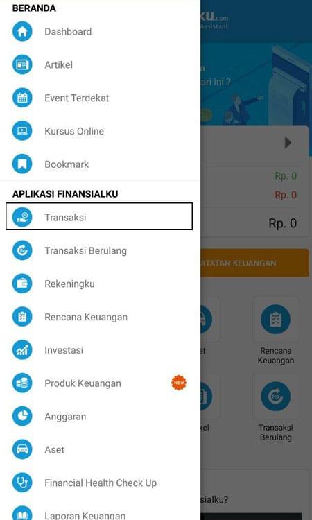 Transaksi Catat Keuangan Aplikasi Finansialku 1