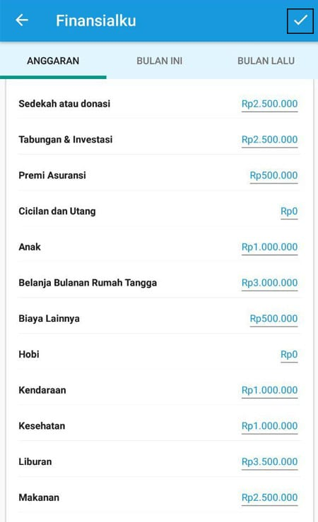 Anggaran Keuangan Aplikasi Finansialku 3
