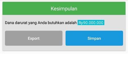 Rencana Keuangan Dana Darurat Aplikasi Finansialku 2