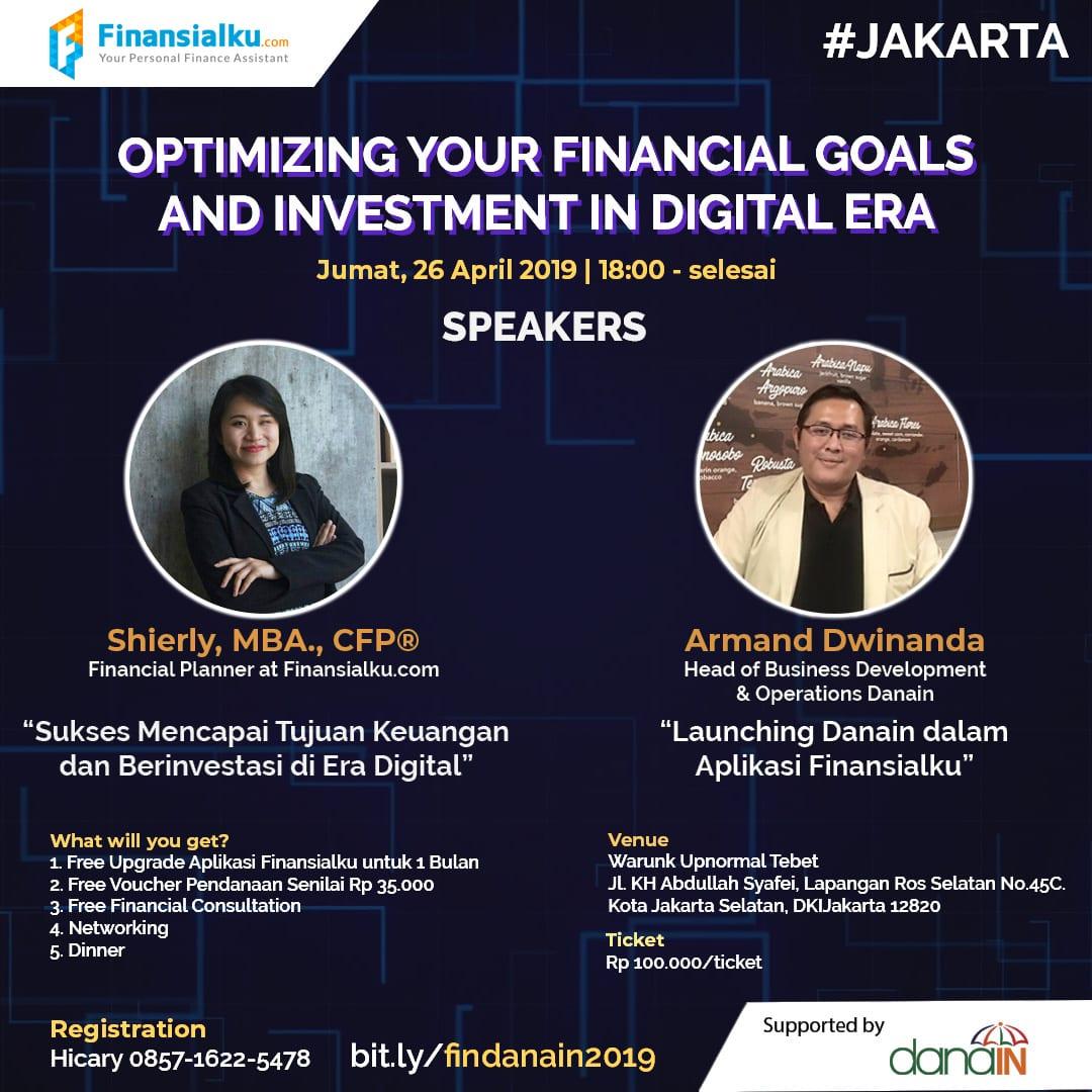 Event Finansialku Jakarta 26 April 2019